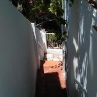 Pintura en blanco de las paredes